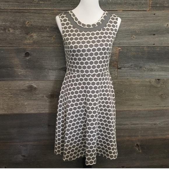50cdf067108 Stitch Fix Pixley Fit n Flare Gray Honeycomb Dress.  M 5b6ad05a12cd4ae7d6d1bcbc